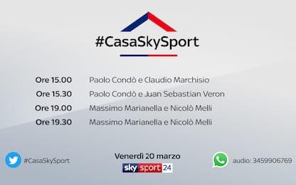 #CasaSkySport: ospiti Marchisio, Veron e Melli