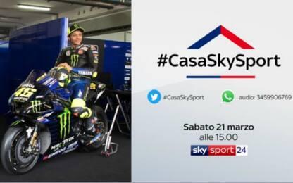 #CasaSkySport: oggi alle 15 c'è Valentino Rossi