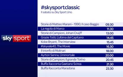 #Skysportclassic: le leggende dello sport