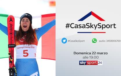 #CasaSkySport: alle 19 Sofia Goggia e Daniil Kvyat