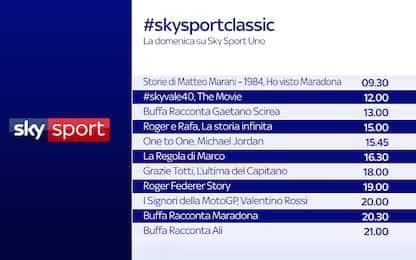 """Una domenica da """"leggenda"""" su Sky Sport Uno"""