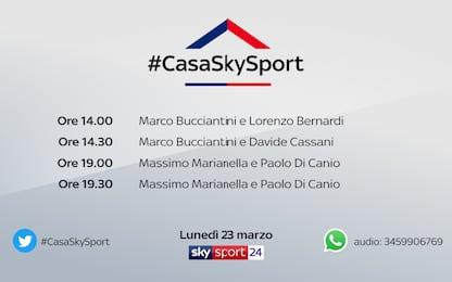 #CasaSkySport: ospiti Bernardi, Cassani e Di Canio