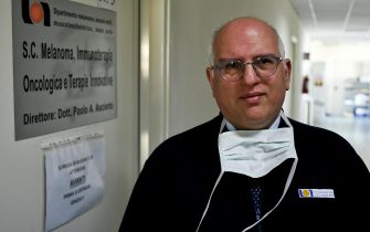Oncologist Paolo Ascierto who, in light of the progress made by patients being treated for Coronavirus, has called for a national protocol to extend the use of tocilizumab, anti-arthritis drug, in infected patients and in conditions Critical, Naples, Italy, 11 March 2020.  ANSA / Ciro Fusco