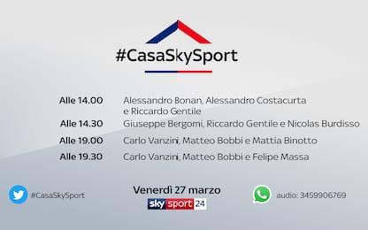 #CasaSkySport a tutta F1: ospiti Binotto e Massa