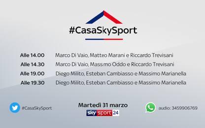 #CasaSkySport, alle 19 Milito e Cambiasso