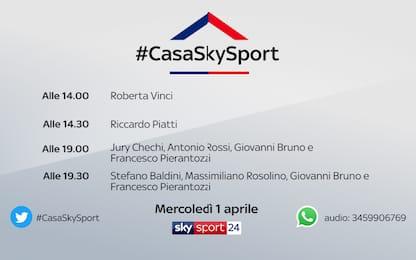 #CasaSkySport, gli ospiti di mercoledì