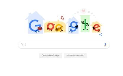 """Google: un doodle con i """"tips"""" contro il Covid-19"""