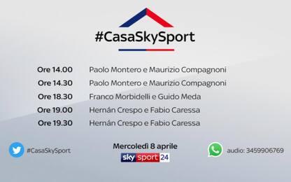#CasaSkySport, gli ospiti di mercoledì 8 aprile