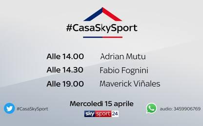 #CasaSkySport, gli ospiti di mercoledì 15 aprile