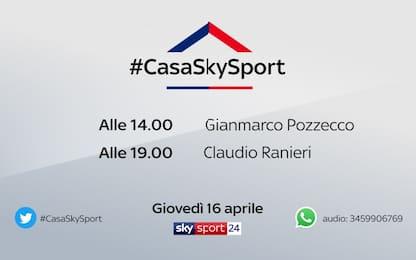#CasaSkySport,gli ospiti di giovedì 16 aprile