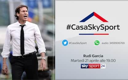 #CasaSkySport, alle 19 ospite Rudi Garcia