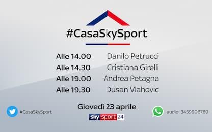 #CasaSkySport, gli ospiti di giovedì 23 aprile