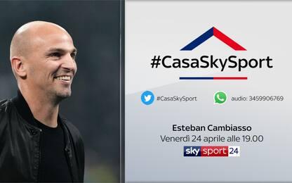 #CasaSkySport: alle 19 Cambiasso, Cruz alle 19.30