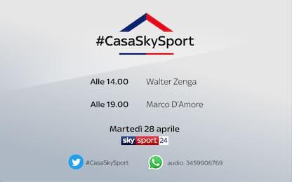 #CasaSkySport: gli ospiti di martedì 28 aprile
