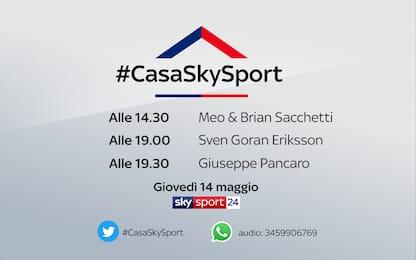 #CasaSkySport, gli ospiti di giovedì 14 maggio