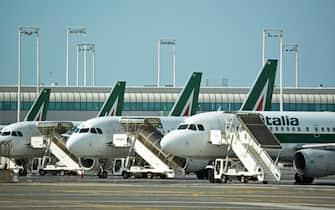 A partire da luglio Alitalia aumenta i voli a 1000 a settimana, Fiumicino (Roma), 11 Giugno 2020. ANSA/TELENEWS
