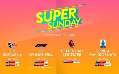 Oggi su Sky Sport è Super Sunday!