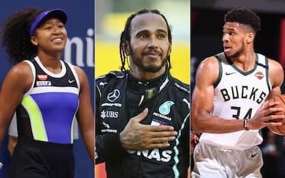 Time, Hamilton e Osaka tra i più influenti 2020