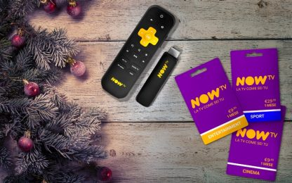 Natale con NOW TV Smart Stick e NOW TV Card