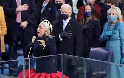 Inauguration day: Lady Gaga canta l'inno per Biden