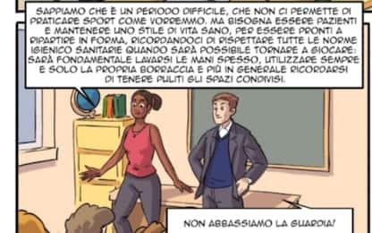 Zanetti&Miriam Sylla a scuola in versione fumetto