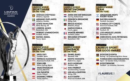 Laureus Sport Awards: le nomination