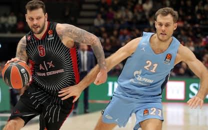 Eurolega, Milano soffre ma vince: Zenit ko 73-72