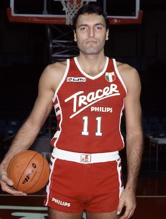 Foto Archivio Storico LaPresseanno 1986/1987sportbasketLa Tracer Olimpia MilanoNella foto: Dino Meneghin