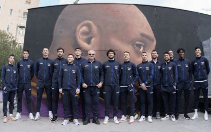 Azzurri nel playground di Napoli dedicato a Kobe