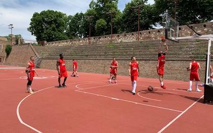 Stella Rossa, allenamenti nei campi della fortezza