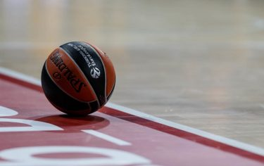 MUNICH, GERMANY - OCTOBER 24: Ball is seen during the 2019/2020 Turkish Airlines EuroLeague Regular Season Round 4 match between FC Bayern Munich and Khimki Moscow Region at Audi Dome on October 24, 2019 in Munich, Germany. (Photo by TF-Images/Getty Images)