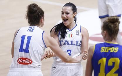 Basket donne, Italia agli Europei: Romania ko