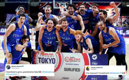 ItalBasket a Tokyo: i complimenti della Nazionale