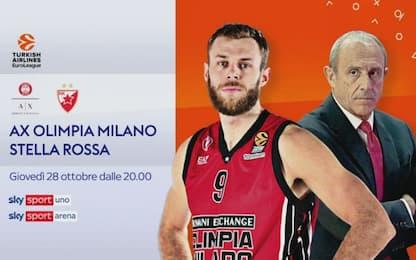 Milano ospita la Stella Rossa, diretta alle 20.30