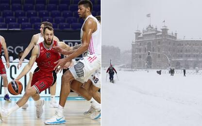 Troppa neve, Olimpia ancora bloccata a Madrid