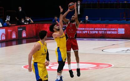 Milano torna a vincere in Europa: Maccabi ko 87-68