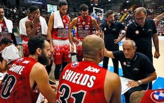Ettore Messina Gevi Napoli Basket - A X Armani Exchange Olimpia Milano UnipolSai Legabasket Serie A 2021-22 Napoli, 25/09/2021 Foto A. De Lise / CIAMILLO-CASTORIA