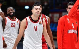 Sloukas Kostas A X Armani Exchange Milano - Olympiacos Piraeus   Euroleague 2020/2021 Milano, 26/01/2021 Foto Ciamillo-Castoria/ Claudio Degaspari