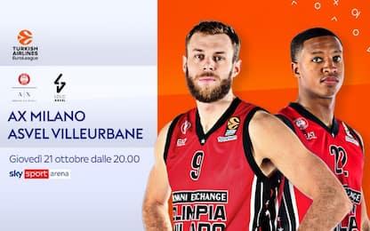 Olimpia Milano-Asvel Villeurbanne LIVE su Sky