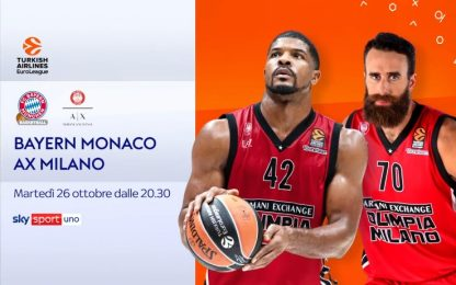 Bayern Monaco-Olimpia LIVE su Sky Sport Uno