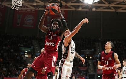 Milano, primo ko in Europa: vince il Bayern 83-77