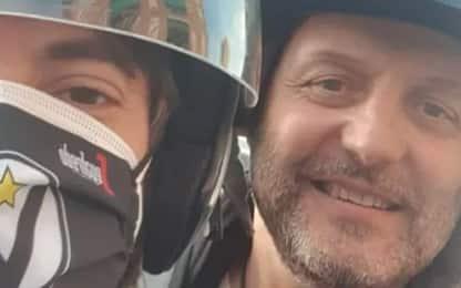 Djordjevic come Ibra: portato da tifoso in scooter