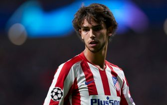 MADRID, SPAIN - SEPTEMBER 18: Joao Felix of Atletico de Madrid looks on during the UEFA Champions League group D match between Atletico Madrid and Juventus at Wanda Metropolitano on September 18, 2019 in Madrid, Spain. (Photo by Quality Sport Images/Getty Images)
