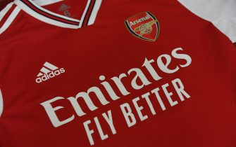 LONDON, ENGLAND - JULY 28: Arsenal shirt hangs in the home changing room before the Emirates Cup match between Arsenal and Olympic Lyonnais at Emirates Stadium on July 28, 2019 in London, England. (Photo by Stuart MacFarlane/Arsenal FC via Getty Images)