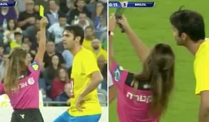 Arbitro ferma Kakà: giallo e poi... selfie. VIDEO