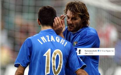 "Vieri amarcord, Totti scherza: ""La 10 a Inzaghi?"""
