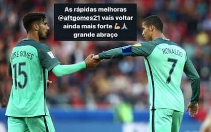 """André Gomes operato, Ronaldo: """"Tornerai più forte"""""""