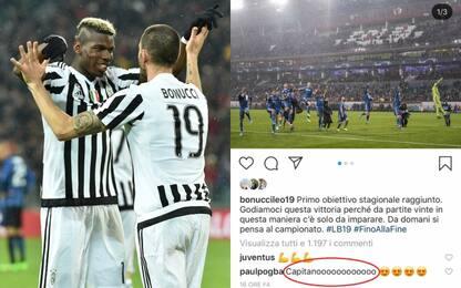 Pogba non dimentica la Juve, messaggio al capitano