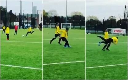Kai Rooney come papà: che gol su punizione! VIDEO