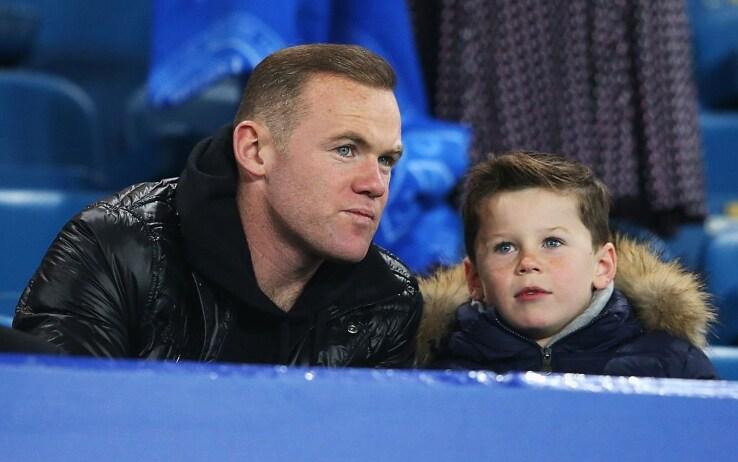 Wayne Rooney insieme al figlio Kai